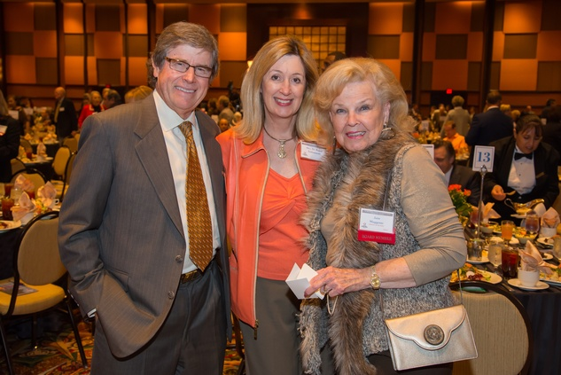 4 Dr. Rusty Schlattman and Barbara Schlattman, from left, with June Waggoner at The Council Fall Luncheon November 2014