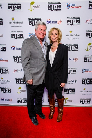 Mack Brown and wife at Mack Jack McConaughey benefit