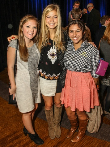 Grace Restrepo, Meghan McCollum and Lainey Gonzales, CARE Breakfast