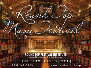 2014 Round Top Summer Music Festival: Texas Festival Orchestra with conductor Christian Arming