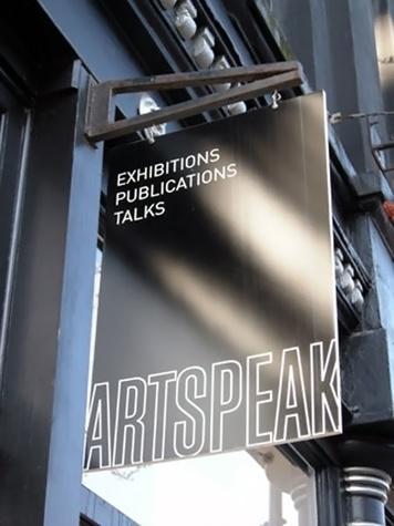 Houston Fine Art Fair September 2014 ArtSpeak studio sign