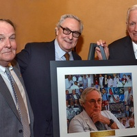 James T. Willerson, from left, Bud Frazier and Dr. Denton A. Cooley at the Texas Heart Institute dinner April 2014
