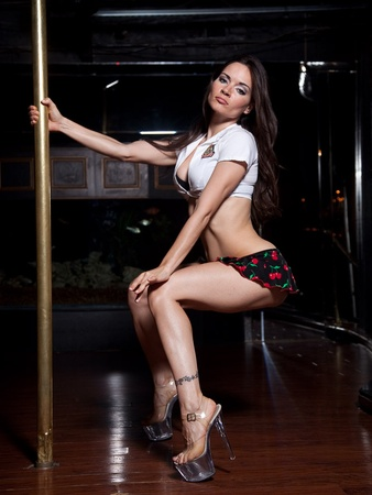Sarah Tressler, pole dancer, stripper, promo shots