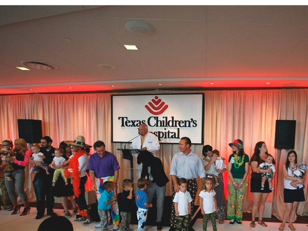 Bad Pants fashion show at Texas Children's August 2013 The brave kids and media personalities who donned their wildest pants