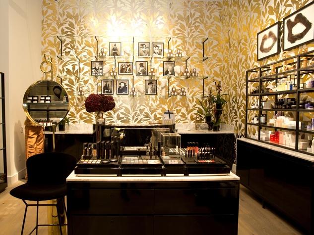 Forty Five Ten Houston River Oaks District interior Rare Beauty cosmetics