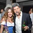 Irena Bejko and Gary Galvez at the Brasserie 19 Halloween party October 2014