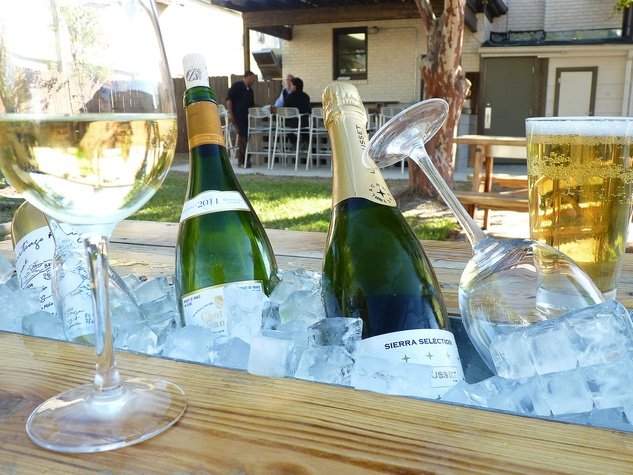 Lucille's Houston, champagne, wine, November 2012