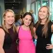 Allie Trail, from left, Danielle Johnson and Natalie Berko at WOW's Membership Drive June 2014