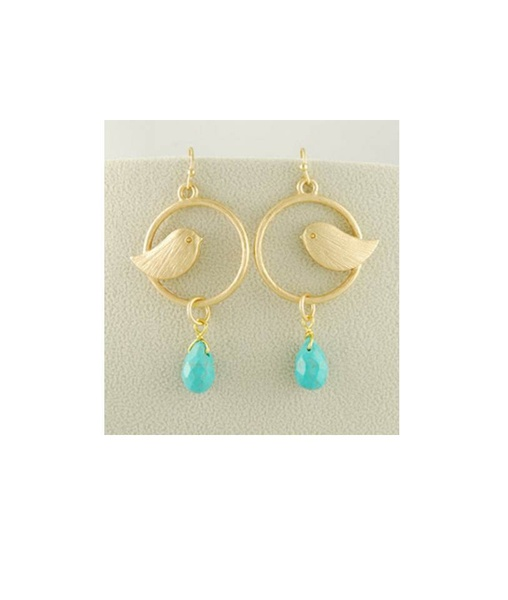 Movida Bird Turq Earrings