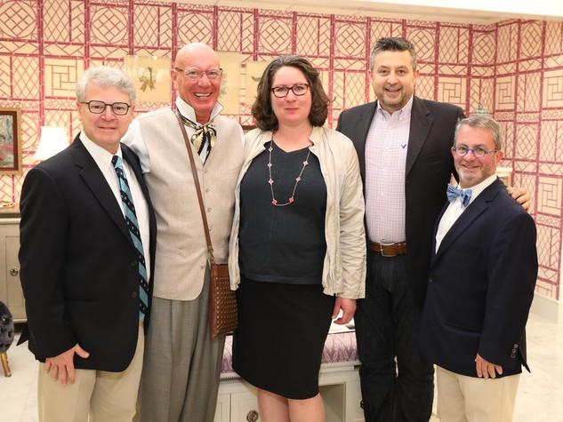 Albert Wilson, Kelly Amen, Eleanor Niermann, Bruno Kelly, Ken Kehoe at Decorative Center Spring Market