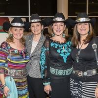 Denise Monteleone, from left, Bobbie Nau, Elizabeth Stein and Ellie Francisco at the HLSR Hide Party January 2014