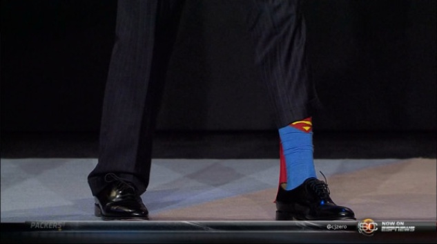 RG3 Superman socks
