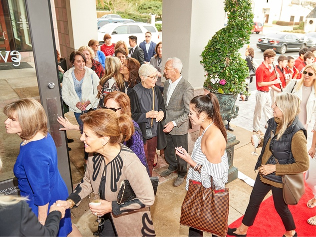 Events grand opening crowds arriving