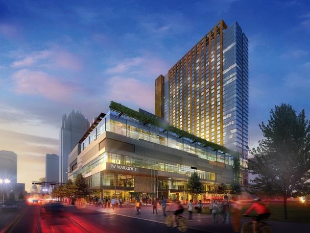 JW Marriott Austin rendering from Congress perspective