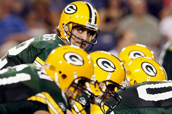 Aaron Rodgers head above