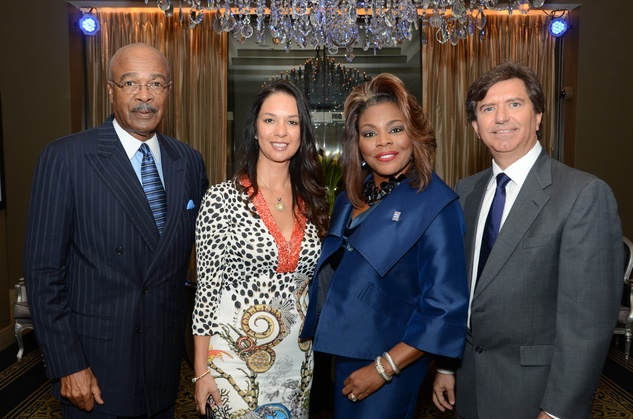 1 Dr. Rod Paige, from left, Alviz Sierra, Stephanie Nellons-Paige and David Sierra at the inaugural Blue Cure luncheon and lecture