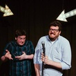Duncan Carson and Brendan K. O'Grady hosting Sure Thing comedy at Austin Java