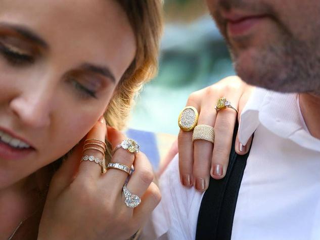 Menagerie engagement wedding rings