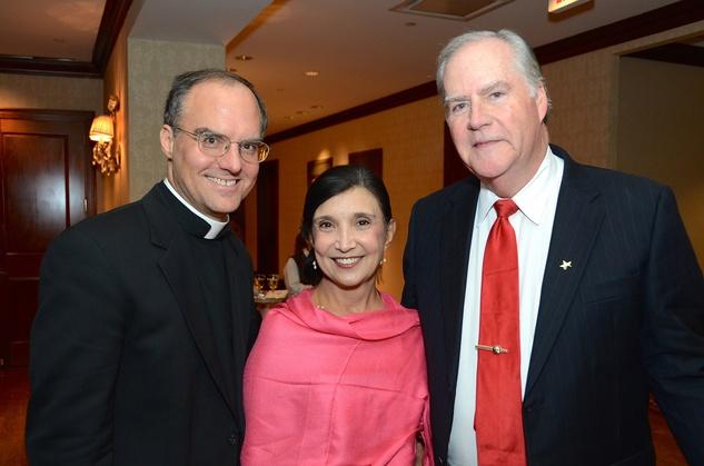 Joseph Pilsner, from left, Doris Rodriguez and Michael Stuart at the Irish Gala November 2014