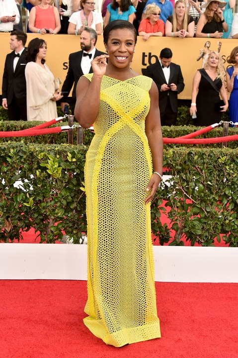 Uzo Aduba in Randi Rahm gown at Screen Actors Guild Awards