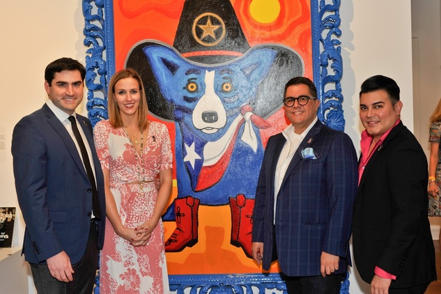 Jacques and Mallory Rodrigue with co-chairs Ronald Maldonado and Edward Sanchez Blue Dog West Ave