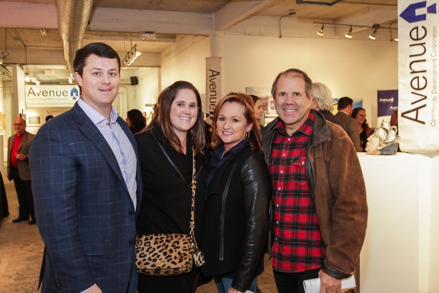 17 Ted and Kim Hartz, from left, and Maureen and Ric Campo at the Art on the Avenue benefit November 2014