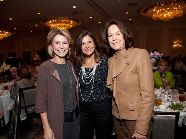 Chris Mizell, from left, Lynette Cone and Linda King at Bo's Place luncheon February 2014