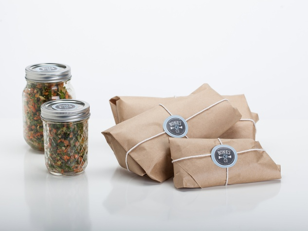 The Bones & Co raw dog food in packaging