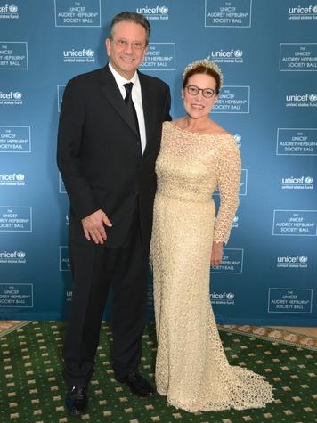 1 Sean Hepburn Ferrer and Karin Hofer at the UNICEF Gala October 2014