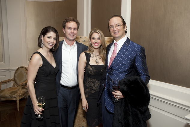 Paige and Bob Martin, from left, Lauren Freeman and Dr. Forrest Roth at the SIRE Under the Stars event April 2014
