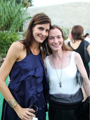 Allison Ayers, left, and Allison Hunter at the Bill Viola Aurora Picture Show Award party October 2013