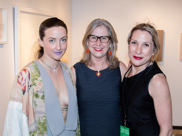 Samantha McCurdy, Susan Ernst, Wanda Dye, dallas art fair prebiew gala