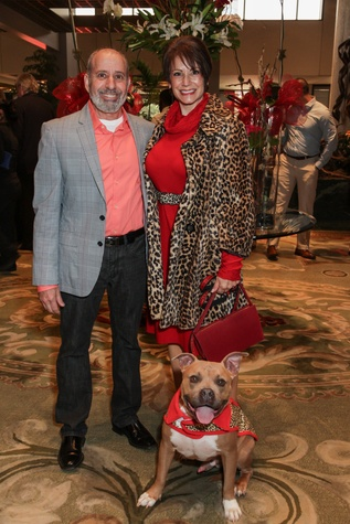 6 Harvey and Ellen Grodjesk with Samson at the Best Friends Brunch benefiting aniMeals on Wheels February 2015