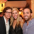 2826 Will Walsh, from left, Lindsey George and Thomas Gribble at the Crimson grand opening party July 2014