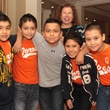 Spring Spirit Baseball event, February 2013, Elsa DelGado and the Toros Baseball Team
