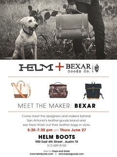 Bexar Goods Co. meet and greet at Helm Boots