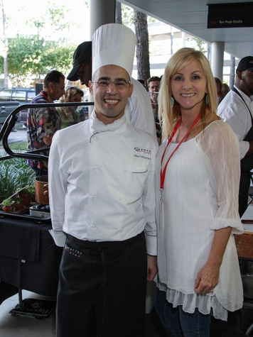 2615 Quattro's Maurizio Ferrarese and Teri Pugh at the Risotto Festival November 2013