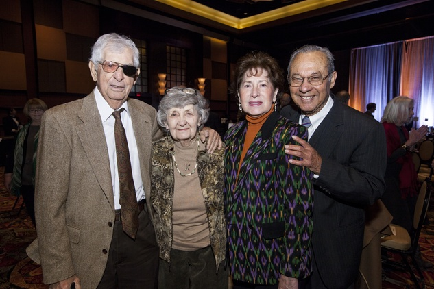 Malcolm and Donna Host, from left, and Nelly and Felix Fraga at the Neighborhood Centers' Heart of Gold Celebration February 2014