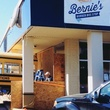 Bernie's Burger Bus bus being installed at Bellaire restaurant March 2014