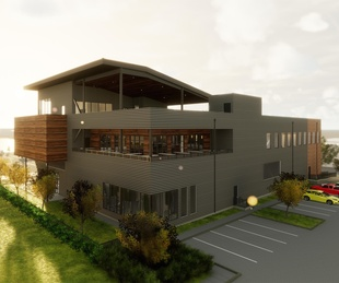 Buffalo Bayou new brewery exterior view