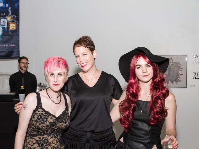 2955 Nicole Longnecker, from left, Sorcha Landau and Paige Stilen at Party Like a Rock Star benefiting Planned Parenthood August 2014 MISSING NAME