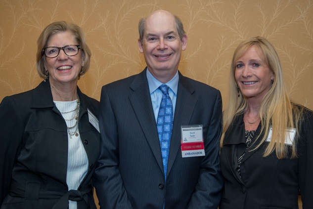 8 Marcia Zimmerman, from left, David Taylor and Lisa Mizell at The Council Fall Luncheon November 2014