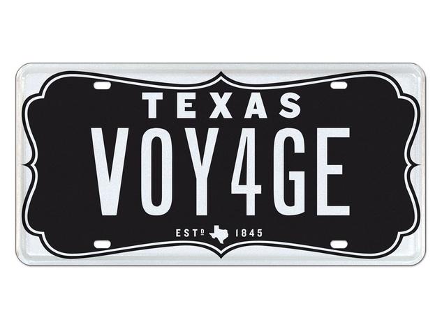 No. 10 top 10 Texas license plates 2013 VintageBlk-VOY4GE