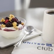 Greek yogurt and fruit among the new food offerings at United Club