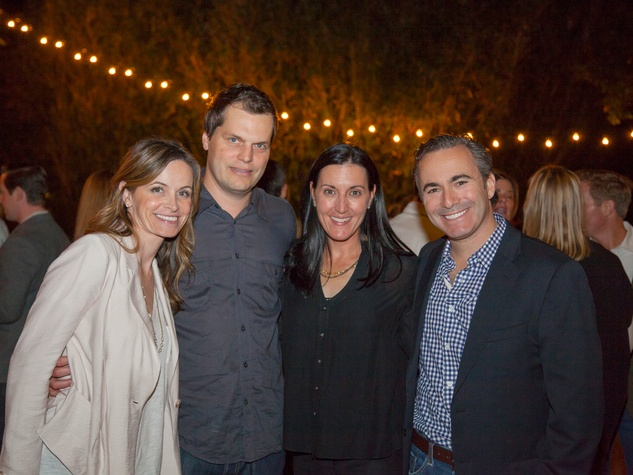 Deedee and Toby Enquist, from left, and Danielle and David Magdol at Rothko Chapel's Moonrise Party on the Plaza October 2013