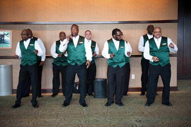 Salvation Army Harbor Choir at the CHRISTUS Foundation for HealthCare spring luncheon April 2015