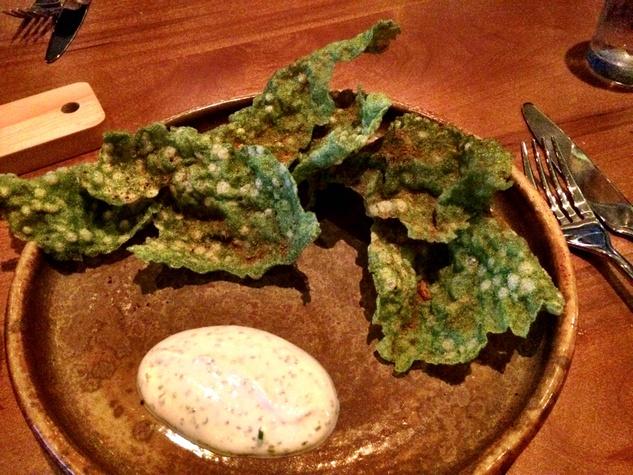 Dosi Korean restaurant kale chips