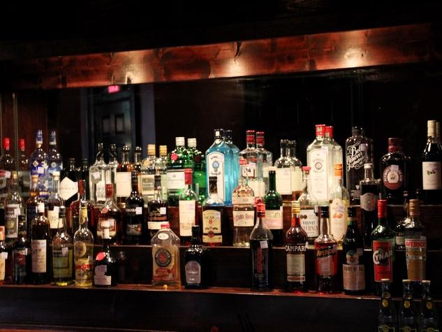 Capt. Foxheart's Bad News Bar & Spirit Lodge, April 2013, bottles