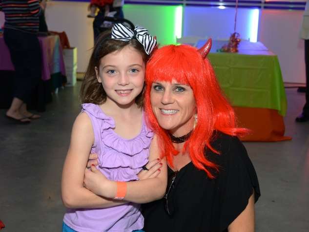 13 Sarah Underwood, left, and Riley Underwood at The Menil Collection Halloween party October 2013