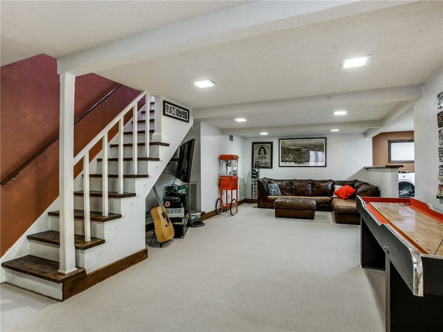 Rare Finished Basement Lurks Beneath Oak